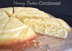 Honey Butter Cornbread http://www.sixsistersstuff.com/2015/07/easy-homemade-cornbread-recipe.html