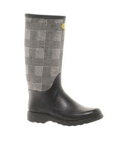 plaid Wellington Boots $77.18