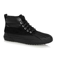 34a790dcc8e2 Vans Trainers - Vans Sk8-hi Del Pato Mte Shoes - (scotchgard) Black