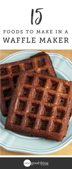 It's time to dust off that waffle maker and put it to work! Here are 15 delicious foods you can make quickly and easily right in your waffle maker.