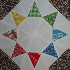 Tutorial for machine paper pieced Evening Star block @ Swim, Bike, Quilt! as part of the Summer Sampler Series Paper Piecing Patterns, Quilt Block Patterns, Pattern Blocks, Star Quilt Blocks, Star Quilts, Amish Quilts, Kaleidoscope Quilt, Foundation Paper Piecing, Quilting Tutorials