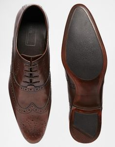 €52.94 - UK9.5, 9 - Image 3 of ASOS Oxford Brogue Shoes in Leather