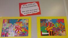 Een mooie boodschap voor elke groep in de basisschool. Art For Kids, Crafts For Kids, Arts And Crafts, Art School, Back To School, Square 1 Art, Birthday Calender, Emo, Art Cart
