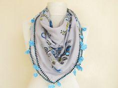 Square scarves Turkish Oya Scarf..wedding gift  by ScarfsSale