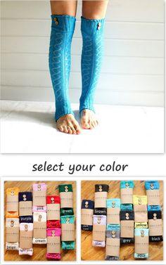 Legwarmers in BLUE with buttons - leg warmers - sea sky blue diamond pattern button leg warmers legging yoga winter fashion gift (13.90 USD) by AnkaAndMaia