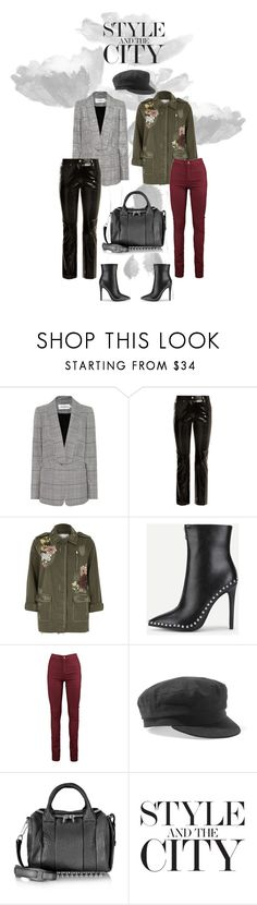 """Same Accessories Different Looks"" by madtrr on Polyvore featuring moda, self-portrait, Helmut Lang, River Island, Isabel Marant, Alexander Wang, blackleather, Studs, blazer e army"
