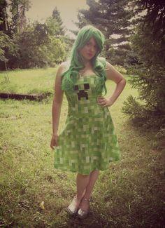 Minecraft Creeper Inspired Dress
