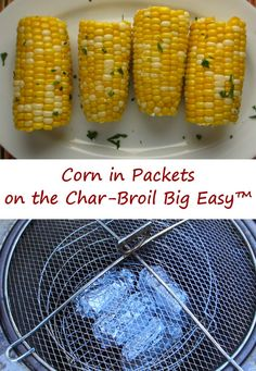 Nothing beats fresh, in-season corn-on-the-cob. Although there's lots of ways to cook up sweet corn, I love to add just a bit of flavor, wrap it in foil and toss it into my Char-Broil Big Easy. In no time I am enjoying delicious, sweet, juicy corn. There's nothing wrong with eating corn with nothing added, but sometimes I like to add a little twist, from Mexican- or Italian-inspired flavors or a bit of smokiness. You can't go wrong no matter what you add. Or don't add.