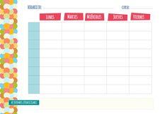 Plantillas de horario semanal para imprimir. En poco tiempo empieza el curso escolar, la vuelta al cole, ver de nuevo a los amigos, las rutinas, las clases, los horarios. Organizarse es una buena forma de empezar bien el curso y una cosa imprescindible para ello es tener una buena hoja de horario para no olvidar ninguna clase y si además tienes un organizador semanal en el que anotar las tareas seguro que este año no se te olvida nada. La planificación y la organización es una de las mejoras…