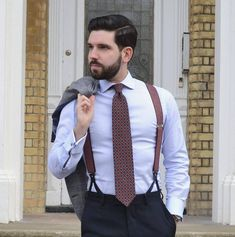 Suit and tie fixation Mens Braces, Suspenders Outfit, Braces Suspenders, Best Suits For Men, Cool Suits, Smart Casual Outfit, Preppy Outfits, Suit Up, Ball Gowns