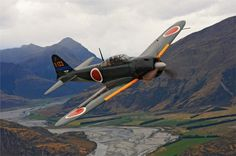 Restored Mitsubishi Zero in New Zealand