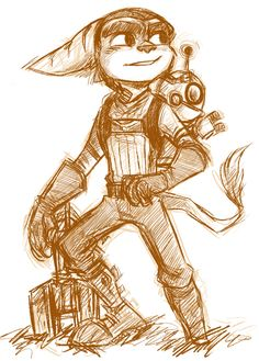 ratchet n clank by ~theziminvader on deviantART