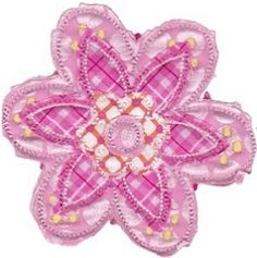 Cute Flower Raggedy Applique 11 - 3 Sizes!   What's New   Machine Embroidery Designs   SWAKembroidery.com Bunnycup Embroidery