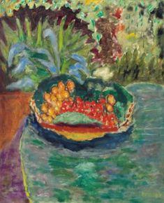 Pierre Bonnard (1867-1947) Corbeille de fruits sur une table