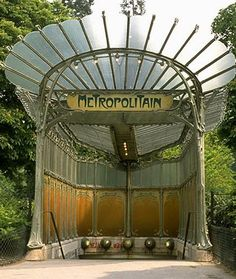 Paris Metropolitain entrance gate  designed by Paris architect and designer Hector Guimard (1899 - 1905)