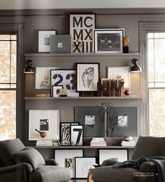 3 Unbelievable Tips and Tricks: Floating Shelves Around Tv Woods how to decorate floating shelves hallways.Two Floating Shelves Living Room floating shelves above couch layout.Floating Shelves Over Tv. Design Hall, Picture Ledge, Photo Ledge, Photo Wall, Picture Shelves, White Picture, Picture Frames, Room Decor, Wall Decor