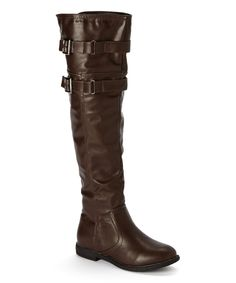 This Shoevibe Brown Sydney Over-the-Knee Boot by Shoevibe is perfect! #zulilyfinds