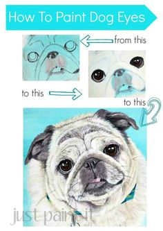 How To Paint Dog Eyes - Just Paint It Blog