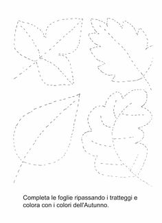 pregrafismo foglie - Cerca con Google Autumn Crafts, Autumn Art, Autumn Theme, Toddler Preschool, Preschool Activities, Diy For Kids, Crafts For Kids, Coloring Books, Coloring Pages