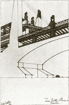 Architectural Drawing by Antonio Sant'Elia