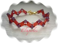 Bracelet Tila Beads et Toupies Swarovski : Bracelet par eloperles sur ...