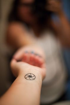 @Mishelle Wholesalebaby Lane of Secret Agent Mama - Aperture Tattoo on Wrist@Mishelle Lane