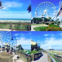Relax and Unwind in Myrtle Beach, South Carolina | Grab a bite to eat, stroll the Boardwalk along the beautiful Atlantic Ocean, and take a ride on the SkyWheel | Photo via Instagram by @ozzyrocks999