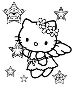 Hello Kitty Christmas Coloring Pages  Here are two Hello Kitty