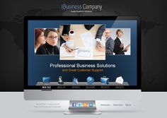 I Business Solutions Company HTML5 Template 300111157 by Dynamic Template