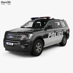 Ford Expedition Police 2017 3d model from Hum3D.com.