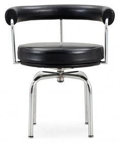Fauteuil le corbusier lc7 noir  Ce fauteuil Le Corbusier pour la marque Cassina, est un fauteuil pivotant 4 pieds avec une structure en acier chromé brillant.  Le fauteuil LC7 est parfaitement adapté pour un bureau avec une position assise optimale pour vos longues journées de travail.  Designer :LE CORBUSIER Marque :CASSINA Couleur :NOIR Dimensions : L 60cm H 73cm P 58cm  #Jbonet #design #cassina