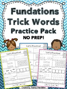 Fundations Trick Words Practice Pack NO PREP from Tricks of the Trade in First Grade on TeachersNotebook.com - (100 pages) - Help your students learn all 93 Trick Words with this fun Practice Pack!