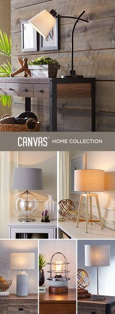 """""""Make multiple lamps work within the same room by choosing ones with shades in complementary tones.""""-Tracy Platt, Canadian Tire Style and Design Expert #MyCANVASstyle"""