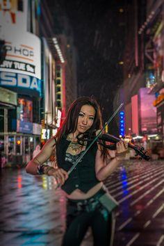 #ElectricViolinist Xiren  Photo by Jan Freire @freirephoto  #TimesSquare #NYC