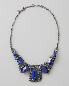 Live in the lapis of luxury with this bold blue Alexis Bittar necklace.