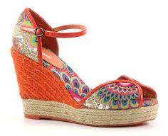Desigual lara oranje sleehak sandalen.