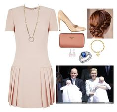 """""""Attending the Christening of Jacques and Gabriella"""" by fashion-royalty ❤ liked on Polyvore featuring Alexander McQueen, Cartier, Prada, Tiffany & Co. and Blue Nile"""