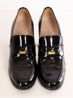 Patent Leather Penny Loafers???  Of Course!  -  CHANEL HEELS @SHOP-HERS