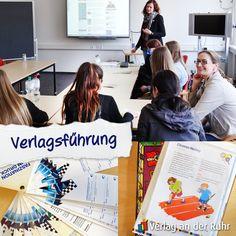 Immer mal wieder geben wir Mülheimer Schülern einen Einblick in unser #Verlagsleben. Heute waren 14 Achtklässler der Realschule Stadtmitte bei uns zu Gast, denen liebe Kollegen aus allen Abteilungen gezeigt haben, wie bei uns ein #Buch entsteht – und wie viel Spaß das machen kann ;-) #Schulführung