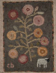 Hey, I found this really awesome Etsy listing at https://www.etsy.com/listing/209839183/primitive-rug-hooking-pattern-one-sheep
