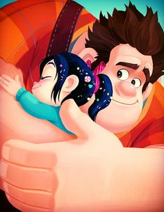 Ralph & Vanellope- Wreck it Ralph was srsly THE BEST