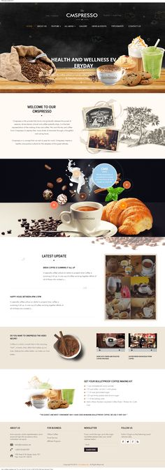 Responsive coffee wordpress theme is perfect theme for coffee shops, bakeries, restaurant,...It's built in HTML5 & CSS3, attractive with many effects, useful plugins, integrated with mobile sreeen such as smartphones and tablets #coffee theme, #wordpress theme