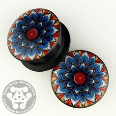 Screw-on Flower Mandala Plugs