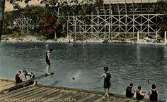 Swimming at Lake Cliff, Oak Cliff, Dallas
