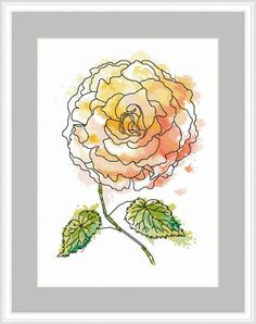 Magic begonia digital pattern for cross stitch PDF image 0