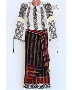 Popular Folk Embroidery Hand embroidered and hand woven - Romanian folk costume from Moldavia worldwide shipping Hungarian Embroidery, Folk Embroidery, Learn Embroidery, Embroidery Stitches, Embroidery Patterns, Fashion Art, Boho Fashion, Folk Clothing, Costumes For Sale