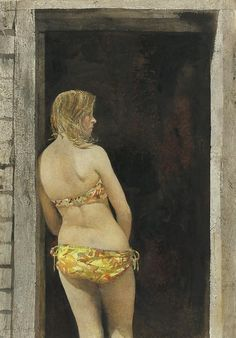 Andrew Wyeth, Bikini, 1968. One of my fav artists . . .