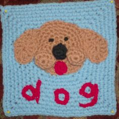 Dog from Anne P. To learn more about our organization go to www.knit-a-square.com  To meet our members and see more of our knitting and crochet go to http://forum.knit-a-square.com/