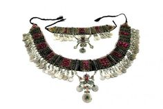 Afghan Kuchi Tribal Variety Belt And Necklace Belly Fusion Jewelry Set