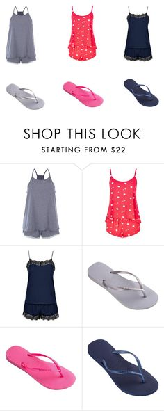 """Sem título #18"" by mariajuliaebeatriz on Polyvore featuring Accessorize, Wildfox, Topshop and Havaianas"